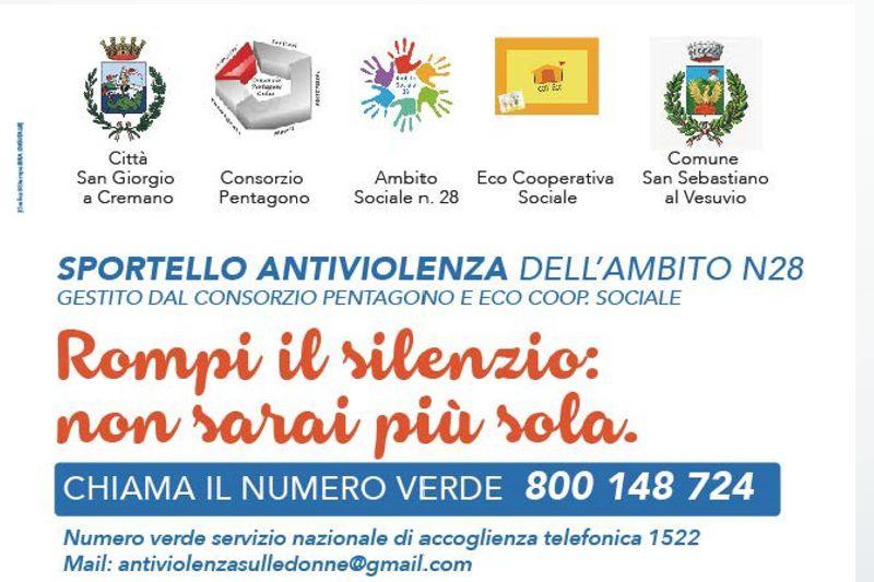 Apertura dello Sportello Antiviolenza dell'Ambito N28